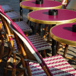 Outdoor cafe, Paris — Stock fotografie