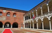 Palác broletto, novara — Stock fotografie