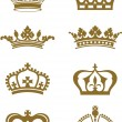 Crowns — Vector de stock #9817436
