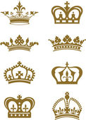 Crowns — Vettoriale Stock