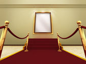 Golden picture frame in a Grand Gallery — Stock Photo
