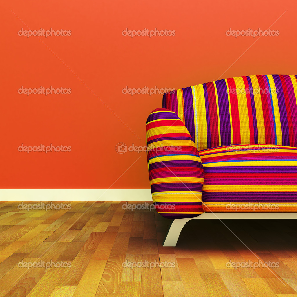 A contemporary colorful sofa — Stock Photo #9624494
