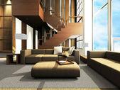 Sofa area of a modern living room — Stock Photo
