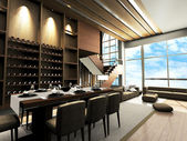 Modern living room design — Stock Photo