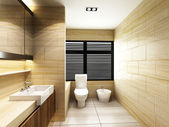 Toilet in Bathroom — Stockfoto