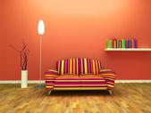 Contemporary interior design — Stock Photo