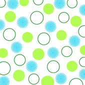 Floral and circles pattern — Stock Photo