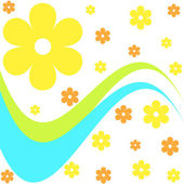 Flowers and waves — Stock Photo