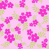 Pink flowers and green leaves — Stock Photo