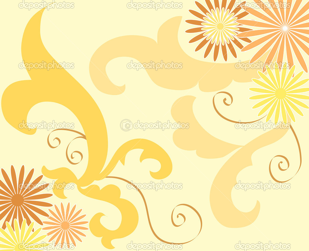 Yellow floral design — Stock Photo #9059657
