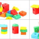 Set of wooden toy bricks — Stock Photo #10200932