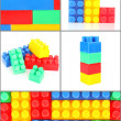 Set of plastic toy bricks — Stock Photo #10200943