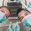 In the dentist's chair — Stock Photo