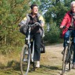 Royalty-Free Stock Photo: Seniors on a bike