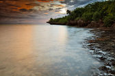 Sunset over Nalusuan Island in the Philippines — Stock Photo