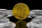 Uncirculated 2011 American Gold Eagle coin — Stock Photo
