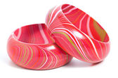 Pink Wooden Bangles — Stock Photo