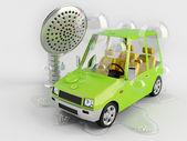 Washing the car — Stock Photo