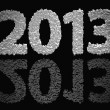 Stock Photo: 2013 New Year Modeled With Tridimensional Blocks