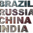 Bric acronym for Brazil, Russia, India, China - Stock Photo