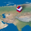 Location of Russia over the map — Stock Photo