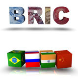 Bric acronym for Brazil, Russia, India, China — Stock Photo