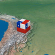 Photo: Location of Chile over map