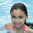 Girl swimming - Stok fotoraf