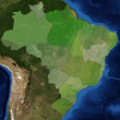 Brazilistates with satelite image — Stock Photo #9329401