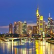 Frankfurt am Main at night - Stock Photo