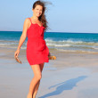 Young woman on a beach — Stock Photo #9136433