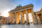 Brandenburg gate at sunset — Foto Stock