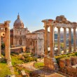 Roman ruins in Rome, Forum — Stock Photo #9762132