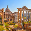 Stock Photo: Romruins in Rome, Forum