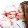 Happy mother with baby — Stock Photo #9887513