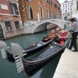 traditionella gondoler i Venedig — Stockfoto