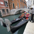 Traditional Gondolas in Venice — Stock Photo