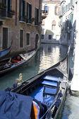 Traditional Gondola in Venice — Stock Photo