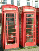 Telephone boxes — Stock Photo