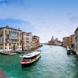 Panoramic view of Grand Canal, villas and SantMariDellSalute church in Venice — Stock Photo #10103408