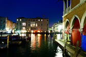 Venice, Italy - night view of Canal Grande — Stock Photo