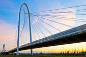 Reggio Emilia, Italy - Calatrava bridges at dusk — Stock Photo