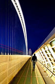 Reggio Emilia, Italy - Calatrava bridges footpath — Stock Photo
