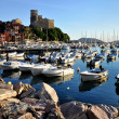 Typical mediterranean port view - Stock Photo