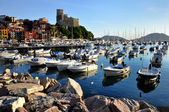 Typical mediterranean port view — Stock Photo