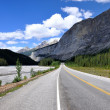 Icefields Parkway between CanadiRocky Mountains — Stock Photo #9090330