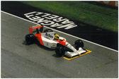Ayrton senna in 1991 Imola F1 Gran Prix — Stock Photo