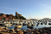 Lerici typical village, Castle and port in Liguria — Foto Stock