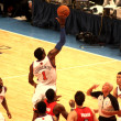 Amare Stoudemire getting the ball during NBA knicks match at madison square garden - Stock Photo