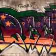Graffiti on concrete wall — Stok Fotoğraf #9861913